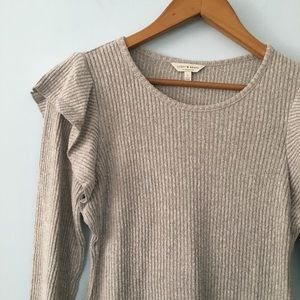 Lucky brand ruffle sweater